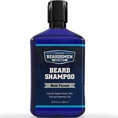 Beard Shampoo & Beard Wash - Man-Sized OZ Bottle - Nourishing All Natural Oils - Cleans, Softens & Conditions - Premium Beard Soap Beard Soap, Beard Shampoo, Diy Shampoo, Diy Beard Oil, Beard Oil And Balm, Natural Essential Oils, Natural Oils, Beard Hair Growth, Beard Wash