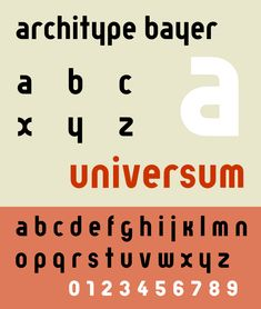 "Herbert Bayer ""Universal type"" proposition"