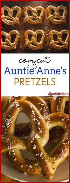Copycat Auntie Anne's Soft Pretzels - Just like the pretzels you get at the mall, but even better since you can make them at home! Auntie Anne Soft Pretzel Recipe, Aunt Annies Pretzel Recipe, No Yeast Pretzel Recipe, Pretzel Bread, Salted Pretzel, Pretzel Dough, Wetzels Pretzels Recipe, Pretzel Recipe For Kids, Recipes