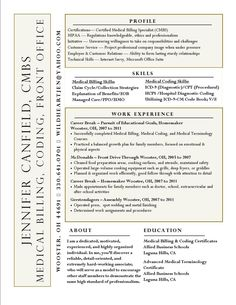 Medical Billing And Coding Resume Sample Sample Resumes Career