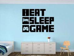 EAT SLEEP GAME Gamer wall decal - Gamer Room Wall Vinyl Decal Sticker https://www.djpeter.co.za