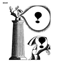 Caricatura de O. BOUR, publicata in almanahul PERPETUUM COMIC '97 editat de URZICA, revista de satira si umor din Romania
