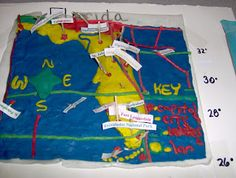 pictures of 5th grade map projects   The Grapevine: 3-D Florida Map Project