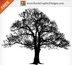 Tree Silhouettes | Tree Silhouette Free Vector Graphics | StockGraphicDesigns