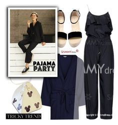 """Pajama Tricky Trend"" by ansev ❤ liked on Polyvore featuring sammydress"