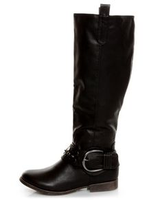 Bamboo Eastwick 01 Black Studded Riding Boots. Another possible need? I'm sensing a theme--and trend!