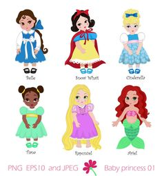 Princess in childhood.Digital Clipart Set  Baby by SandyDigitalArt, $5.00