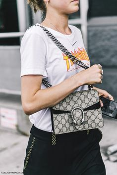 nyfw-new_york_fashion_week_ss17-street_style-outfits-collage_vintage-jessica_minkoff-earrings-graphic_tee-black_trousers-chloe_sandals-gucci_bag-4