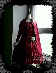fanplusfriend - Ghost Bride in Red, Elegant Gothic Lolita Retro Steel Boned Corset Bodice Strapless Dress & Cravat (http://www.fanplusfriend.com/ghost-bride-in-red-elegant-gothic-lolita-retro-steel-boned-corset-bodice-strapless-dress-cravat/)