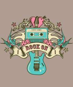 This Mixin' Vixen Rock On guitar tee is no longer for sale. Browse our featured designs at http://www.inktothepeople.com/marketplace