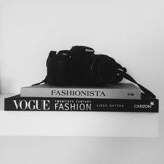 vogue book, camera