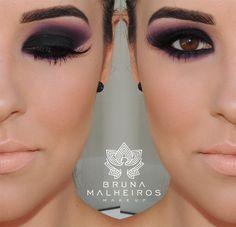 Bruna Malheiros Makeup » Blog Archive » Smokey Eyes com Esfumado Roxo