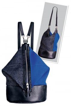 Detailní návod na praktický doplněk dvou tváří Fashion Backpack, Diy And Crafts, Backpacks, Style, Sewing Ideas, Patterns, Leather, Scrappy Quilts, Backpack