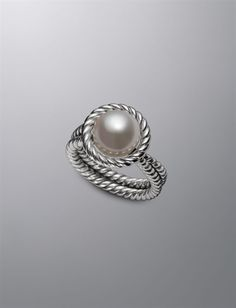 10.5mm Pearl Cable Ring | Women Rings | David Yurman Official Store