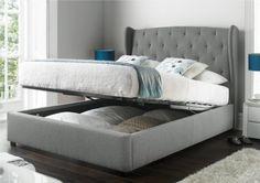 Upholstered Beds Fabric Beds Amp Bed Frames Time 4 Sleep regarding Grey Upholstered Bed Frame