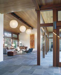 mid century modern kitchen updates using slate flooring - Google Search