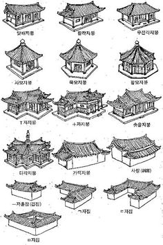 China Architecture, Japanese Architecture, Historical Architecture, Chinese Design, Chinese Art, Architecture Blueprints, Traditional Japanese House, House Drawing, Korean Art