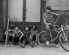 k-a-t-i-e-Beekman Street, Sunday morningNew York City, 1967 by Danny Lyon