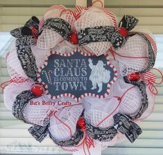 Check out this item in my Etsy shop https://www.etsy.com/listing/251871900/christmas-wreath-holiday-wreath-door