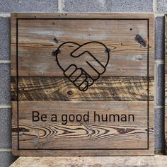 Reclaimed Wood Wall Art, Be A Nice Human, Bamboo Cutting Board, Happy Valentines Day, Pine, Heart, Followers, Projects, Community