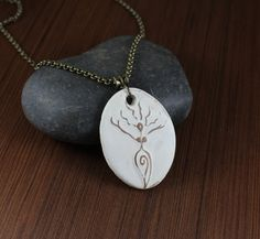 Goddess  Ceramic pendant necklace by KLFStudio on Etsy