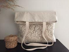 VENDITA a mano cotone Shabby Chic Wedding Bag borsa di pizzo