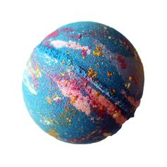 The Galaxy Bomb is a bath bomb that everyone enjoys! It is loaded with natural shimmery mica that will swirl around the tub like stars. Inspired by a little bit of science, the scent is comprised most