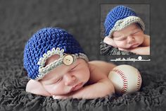 Crochet Baseball Cap #prop #baby #newborn #boy  --Do these three things and make money every time. FREE VIDEO shows you how. Click here:  http://www.earnyouronlineincomefast