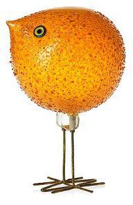 A Peter Pelzel 'Pulcino' orange glass bird, Vistosi, Italy Glass Ceramic, Mosaic Glass, Fused Glass, Art Of Glass, Glass Animals, Orange Crush, Glass Birds, Sculpture, Orange Color