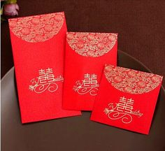 China Traditional Wedding Favor Chinese Red Packet Envelope Gift Bag Stamping Happiness Give Children Lucky Money in New Year $0.2 | DHgate.com