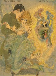 nell brinkley known as the Queen of comics (1886-1944) - illustration