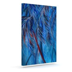 "Rosie Brown ""Red White Tropical"" Outdoor Canvas Wall Art"