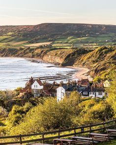 Gorgeous sunrise on Robin Hood's Bay in England's Yorkshire.   #england #yorkshire #robinhoodsbay #sunrise #uk #travel #trip