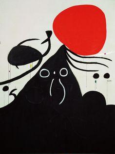 Joan Miró - Surrealism & Abstraction - Femme devant le soleil, 1974.