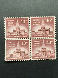US Scott – 1956 Independence Hall - Liberty Series Independence Hall, Before Christmas, Liberty, United States, The Unit, History, Ebay, Political Freedom, Historia