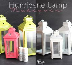 DIY makeover of hurricane lamps with tips and tricks for your own makeover from #RealCoake #HurricaneLamps #IDY