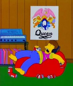 Image via We Heart It https://weheartit.com/entry/164032341 #90s #grunge #homer #music #Queen #thesimpsons