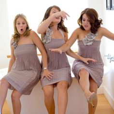 purple grey bridesmaid dresses with flower strap(s)