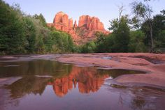 Cathedral Rock at Red Rock Crossing in Sedona, Arizona, US -