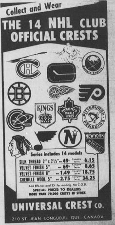 NHL crests: when there were Hockey Rules, Funny Hockey, Hockey Mom, Ice Hockey, Montreal Canadiens, Blackhawks Hockey, Chicago Blackhawks, Hockey Posters, Nhl Logos