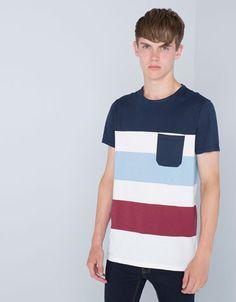 Bershka Colombia - Camiseta colores combinados con bolsillo $40.ooo
