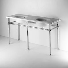 """Metal Round Five Leg Double Washstand 56"""" x 20"""" x 31 1/2"""" — Products 