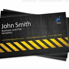 Construction Business Cards | Black business card, Fonts and Signs