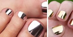 Gold & Silver Nail Wraps. Last 2 MONTHS on toes! | Jane