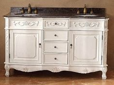60 Inch Costa Blanca Double Sink Vanity with White Finish