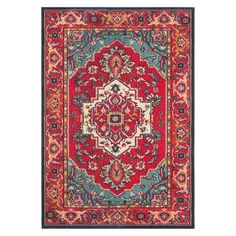 Safavieh Essie Rug - Red/Turquoise $539 for 8' x 10'