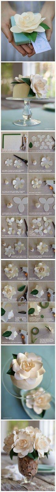 Minha Casinha Rosa: Flor feita com papel.