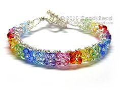 Pulseras de cristal Swarovski sol brillante por por candybead