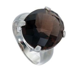 Big Size Natural Smoky Quartz Ring by jewelkingthai on Etsy, $46.00