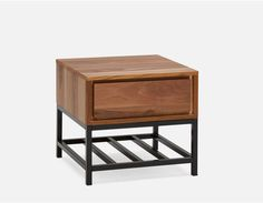 CLARENCE - End Table - Dark Walnut